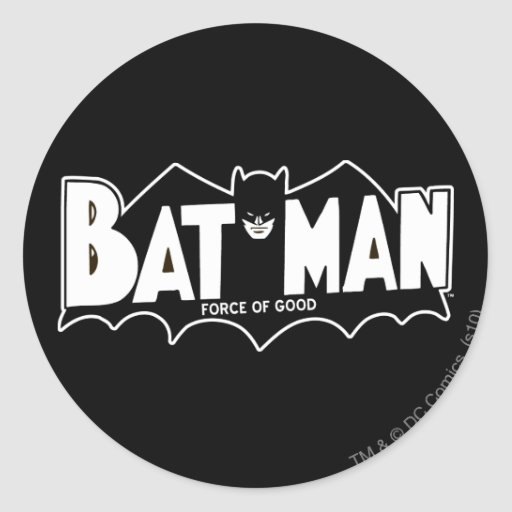 Batman - Force of Good 60s Logo Round Sticker