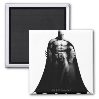 Batman Front View B/W 2 Inch Square Magnet