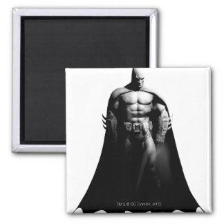 Batman Front View B/W 2 Inch Square Magnet