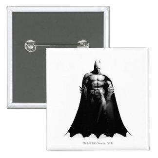 Batman Front View B/W Button