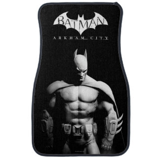Batman Front View B/W Car Mat