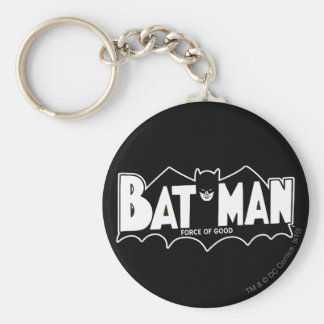 Batman - fuerza del buen logotipo 60s llavero redondo tipo pin