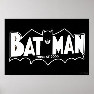Batman - fuerza del buen logotipo 60s poster