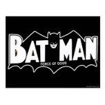 Batman - fuerza del buen logotipo 60s postal
