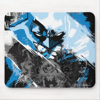 Batman Future Cityscape Montage Mouse Pad