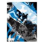 Batman Future Cityscape Montage Postcard