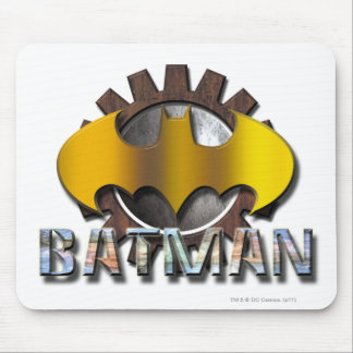 Batman | Gear Background Logo Mouse Pad