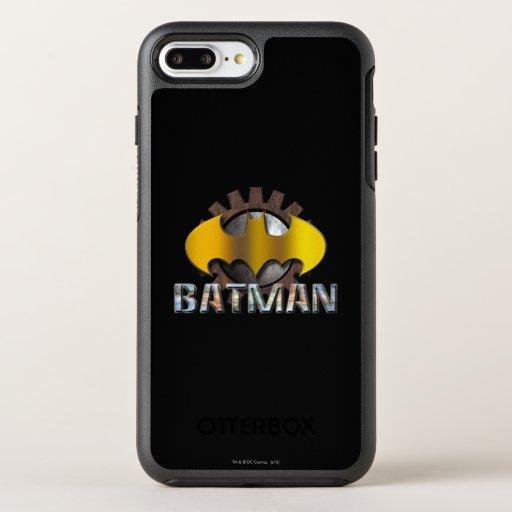 Batman | Gear Background Logo OtterBox Symmetry iPhone 8 Plus/7 Plus Case