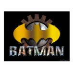 Batman   Gear Background Logo Postcard