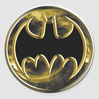 Batman Gold Logo Classic Round Sticker