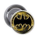 Batman Gold Logo Pinback Button