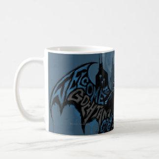 Batman Gotham City Paint Drip Graphic Classic White Coffee Mug