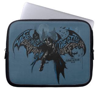 Batman Gotham City Paint Drip Graphic Laptop Sleeves