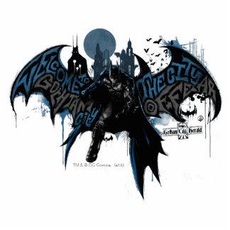 Batman Gotham City Paint Drip Graphic Statuette