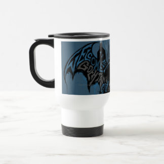 Batman Gotham City Paint Drip Graphic Travel Mug