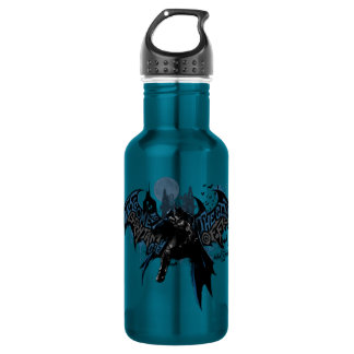 Batman Gotham City Paint Drip Graphic Water Bottle