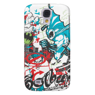 Batman Gotham Guardian Lineart Collage Galaxy S4 Case