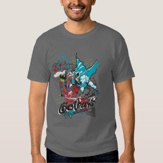 Batman Gotham Guardian Lineart Collage T-Shirt