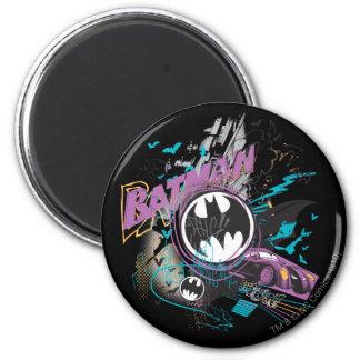 Batman Gotham Skyline Sketch Refrigerator Magnets