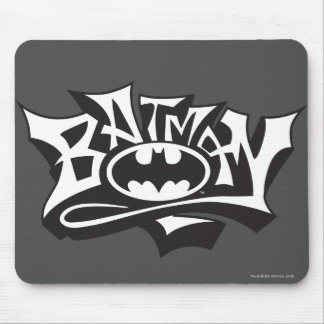 Batman | Graffiti Name Logo Mouse Pad