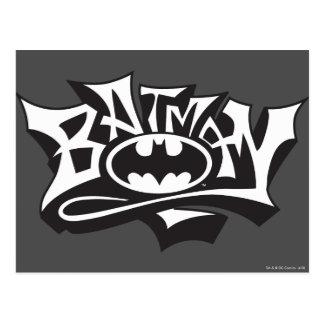 Batman | Graffiti Name Logo Postcard