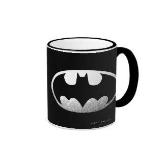 Batman Grainy Logo Ringer Coffee Mug