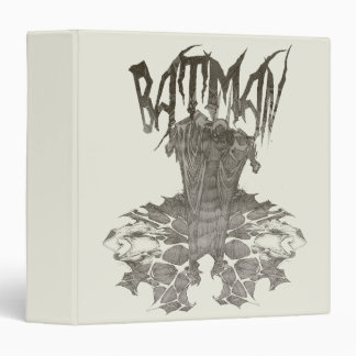 Batman Graphic Novel Pencil Sketch 2 Binder