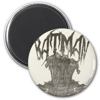 Batman Graphic Novel Pencil Sketch 2 2 Inch Round Magnet