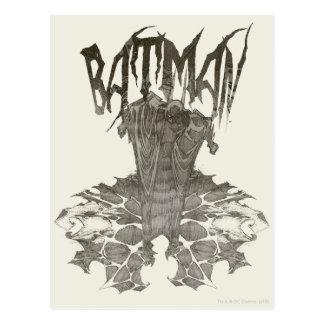 Batman Graphic Novel Pencil Sketch 2 Postcard