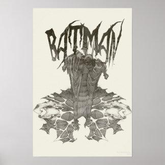 Batman Graphic Novel Pencil Sketch 2 Poster