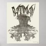 Batman Graphic Novel Pencil Sketch 2 Print