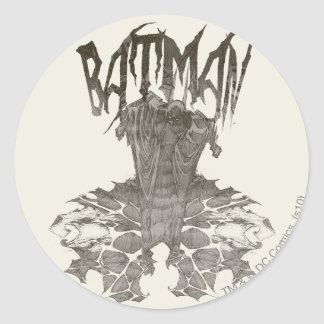 Batman Graphic Novel Pencil Sketch 2 Sticker