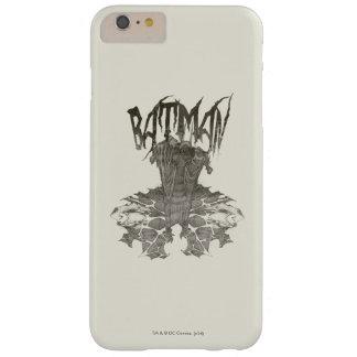 Batman | Graphic Novel Pencil Sketch Beige Logo Barely There iPhone 6 Plus Case
