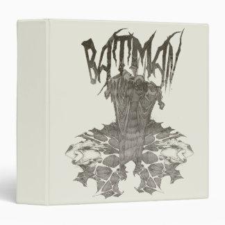 Batman   Graphic Novel Pencil Sketch Beige Logo Binder