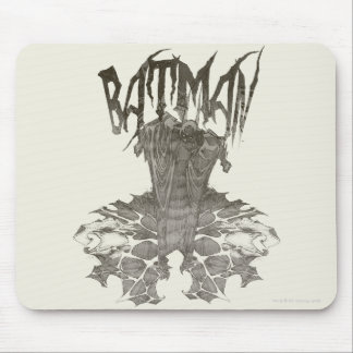 Batman | Graphic Novel Pencil Sketch Beige Logo Mouse Pad