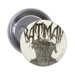 Batman | Graphic Novel Pencil Sketch Beige Logo Pinback Button