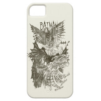 Batman Graphic Novel Pencil Sketch iPhone 5 Case