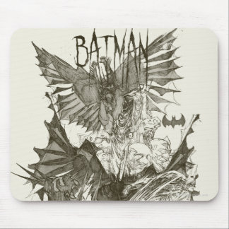 Batman Graphic Novel Pencil Sketch Mouse Pad