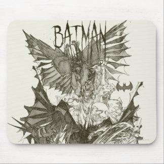 Batman Graphic Novel Pencil Sketch Mouse Pad