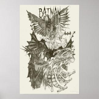 Batman Graphic Novel Pencil Sketch Poster