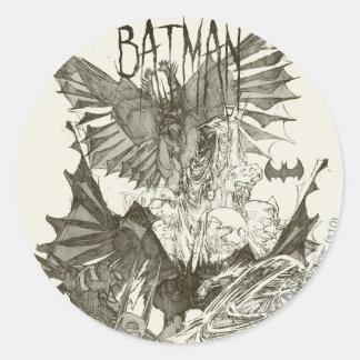 Batman Graphic Novel Pencil Sketch Sticker