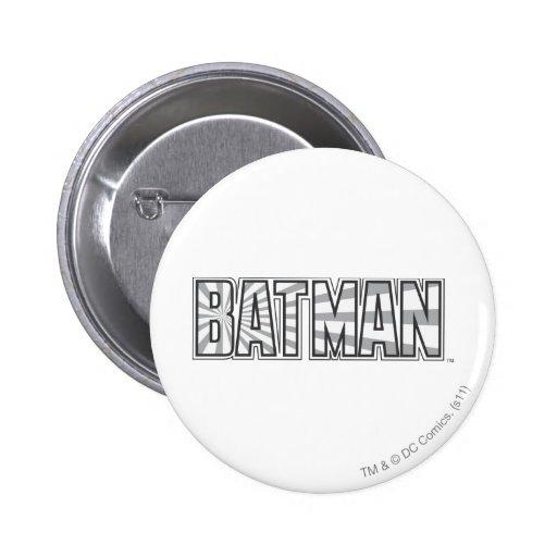 Batman GreyStarbust Logo Button