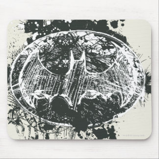 Batman Grunge Splatter Sketch Mouse Pad