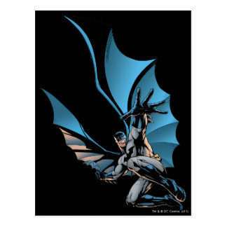 Batman hand in foreground postcard
