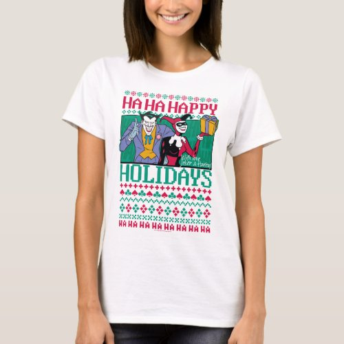 Batman | Happy Holidays Joker & Harley Quinn T-Shirt After Christmas Sales 5628