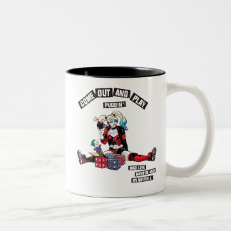 "Batman | Harley Quinn ""Come Out And Play Puddin'"" Two-Tone Coffee Mug"