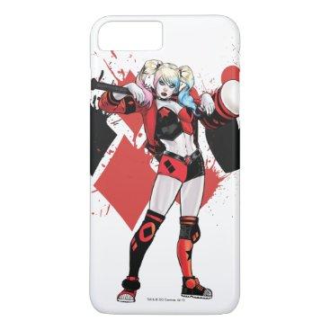 Batman | Harley Quinn Hearts & Diamonds Splatter iPhone 8 Plus/7 Plus Case