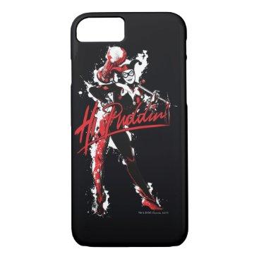 "Batman | Harley Quinn ""Hi Puddin'"" Ink Art iPhone 8/7 Case"