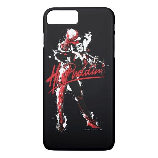 "Batman | Harley Quinn ""Hi Puddin'"" Ink Art iPhone 8 Plus/7 Plus Case"