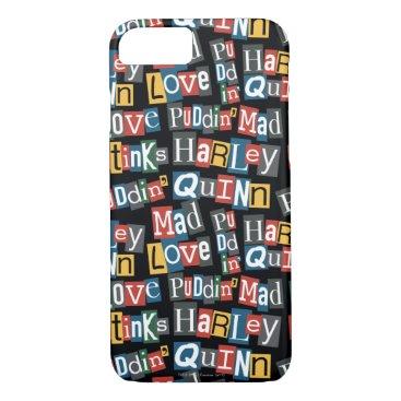 Batman | Harley Quinn Ransom Note Style Pattern iPhone 8/7 Case